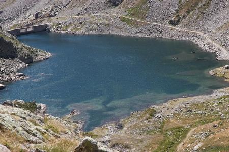 Le lac de la Fous vu du vallon de Pagari