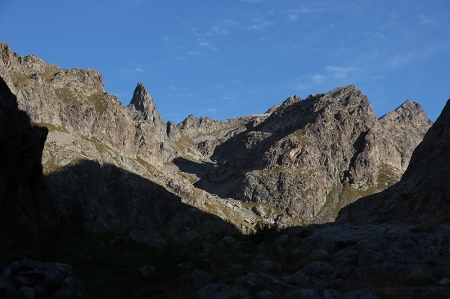 Depuis le sommet du Mur des Italiens, vue sur les sommets de la Gordolasque